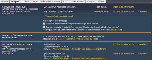 Transférer des messages de Hotmail vers Gmail