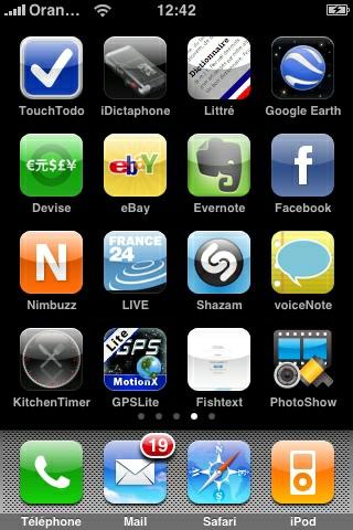 Mes applications préférées sur Iphone