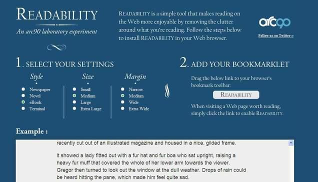 Du repos pour vos yeux et vos neurones : Readability