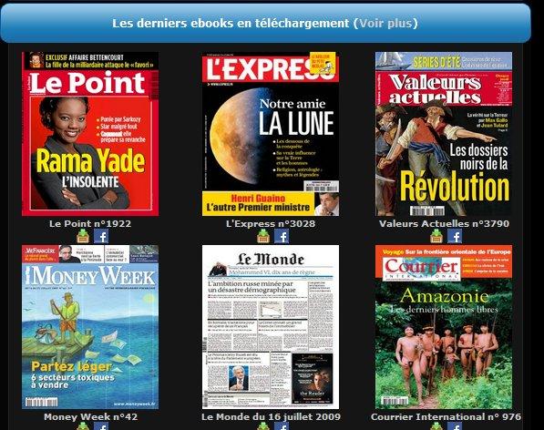 Toutes vos revues au format electronique et gratuites !
