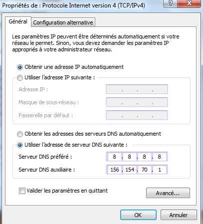 La gestion des DNS sous Windows