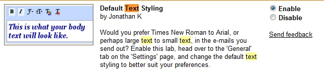 Les nouvelles options de texte de Gmail