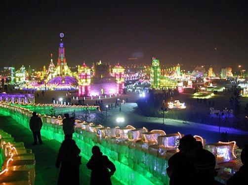 Festival neige et glace à Harbin (Mandchourie)