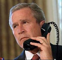 Bush les mains sales