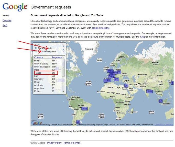 Google et la censure gouvernementale