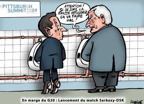 Professeur Strauss Kahn vs Élève Sarkozy