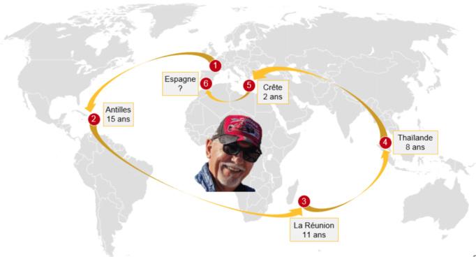 Ma vie sur quatre continents, par l'excellent site GlobeSenior.fr