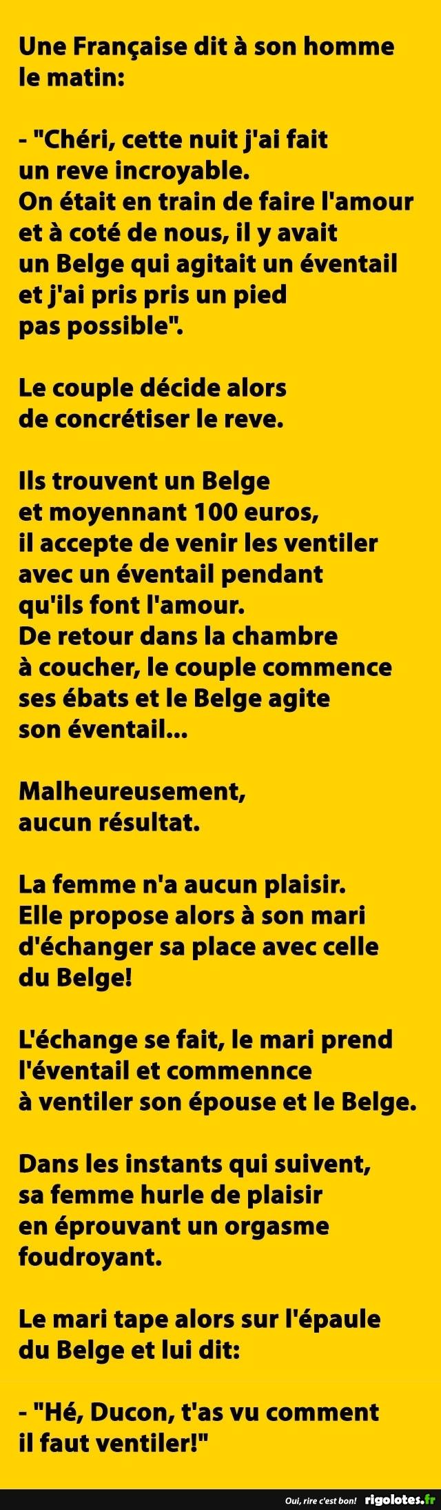 Le belge, le français, et l'éventail : une histoire d'amour
