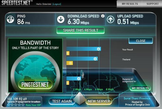 Ma nouvelle connexion Internet à Koh Samui