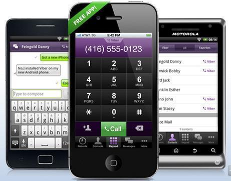 La gratuité des communications téléphoniques entre ordiphones arrive avec Viber !