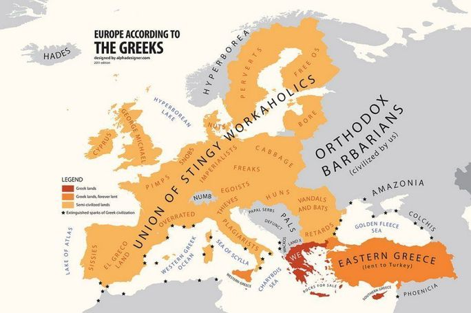 L'Europe, vue par les Grecs