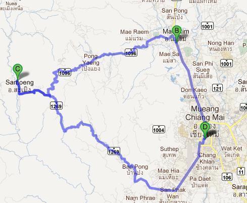 Un classique à Chiang Mai : la boucle de Samoeng