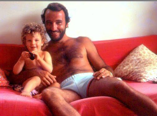Julien et moi. Saint Barth : 1980