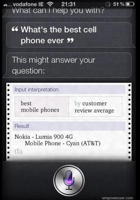 La vache, Siri ...