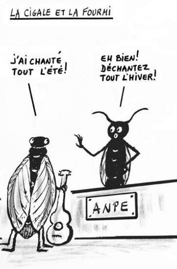 La triste histoire d'une fourmi productive et heureuse...