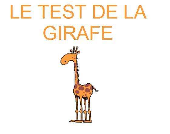 Test de la girafe