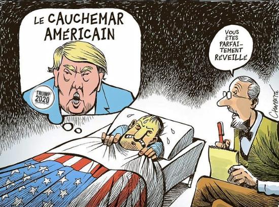 Le cauchemar américain. Dessin de Chapatte