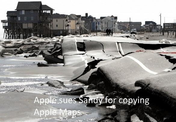 Apple attaque Sandy en justice pour avoir copié les cartes Apple.