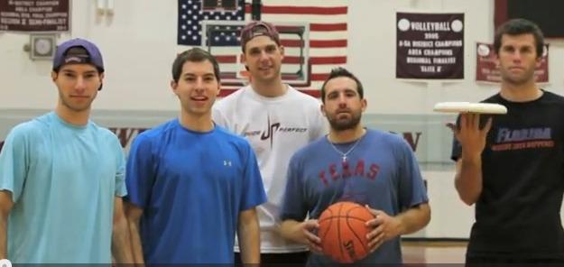 Ce que l'on peut faire avec un frisbee et un ballon de basket