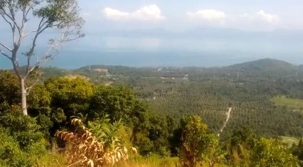 Au loin, l'île voisine de Koh Phangan. En bas, notre route !