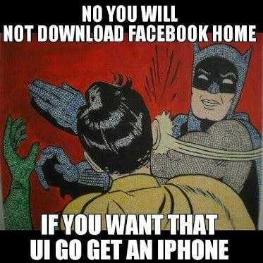 Non, tu ne téléchargeras pas Home. Si tu veux cela, va chercher un Iphone !