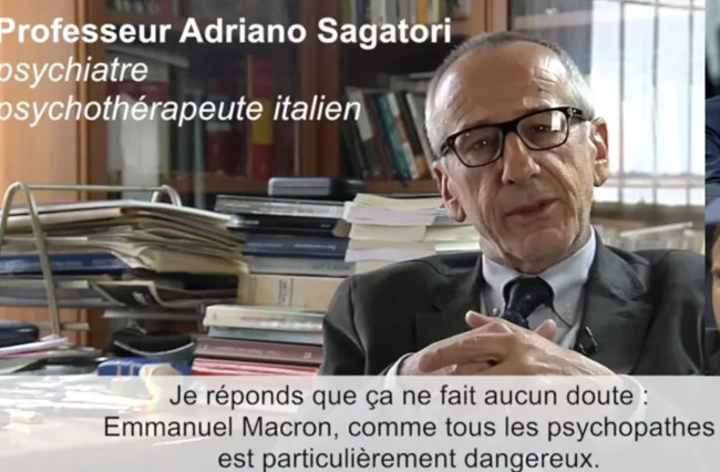 """Depuis, l'avis de ce psychiatre est partagé par beaucoup d'autres. Tapez """"Macron psychopathe"""" dans la recherche Google"""
