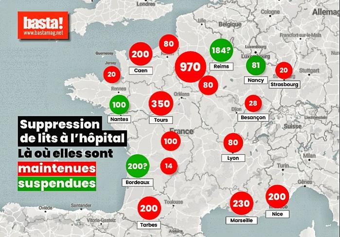 -1000 lits pour la région Parisienne ; la plus touchée en ce moment (!)