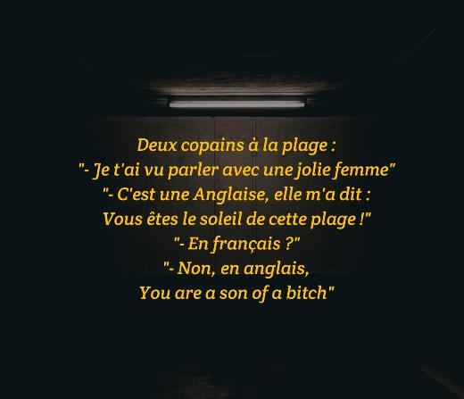 Ah, les langues étrangères...
