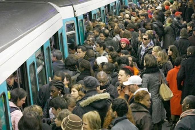 Le métro à Paris...un jour de grève