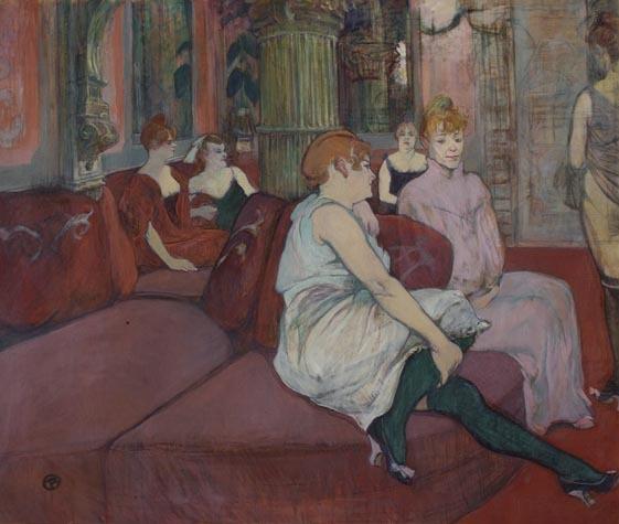 Toulouse-Lautrec-Au salon de la rue des Moulins, 1894
