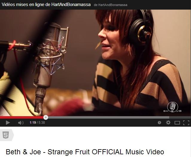 Beth Hart et Joe Bonamassa en studio : Strange fruit.