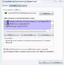 Cliquez sur Protocole Internet (TCP/IP) puis sur Propriétés