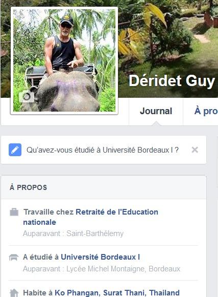 Ma présentation sur Facebook !