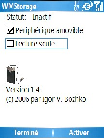 Wmstorage ou comment transformer votre Pocket Pc en disque dur externe !