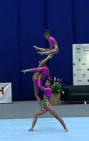 3 gymnastes russes éblouissantes