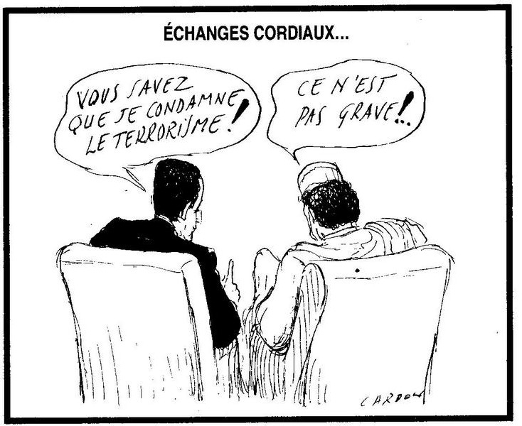 Dessin de Cardon extrait du Canard Enchainé