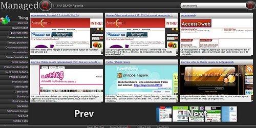 Un moteur de recherche graphique : Managedq