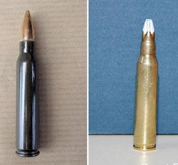 Sans être militaire il est facile de distinguer une balle reelle d'une balle à blanc