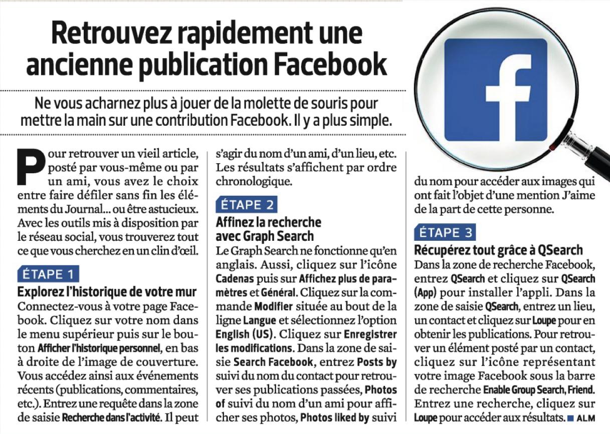 Rechercher dans Facebook