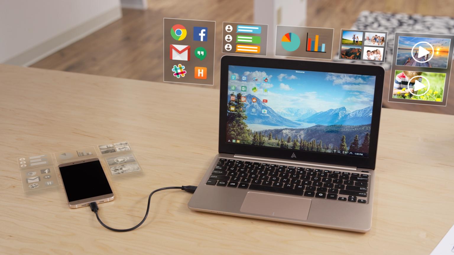 Transformez votre smartphone Android en ordinateur portable avec The Superbook.