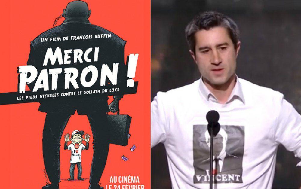 """Pour """"Merci Patron !"""", le discours fort et engagé de François Ruffin aux César"""