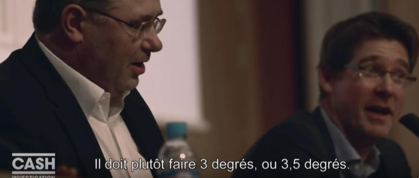 La COP Total, c'est 3-3.5 degrés selon son propre patron !