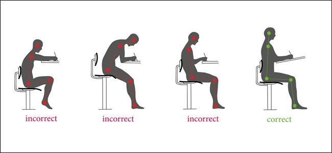 Six conseils pour vous aider à éviter les  mauvaises postures  devant votre ordinateur