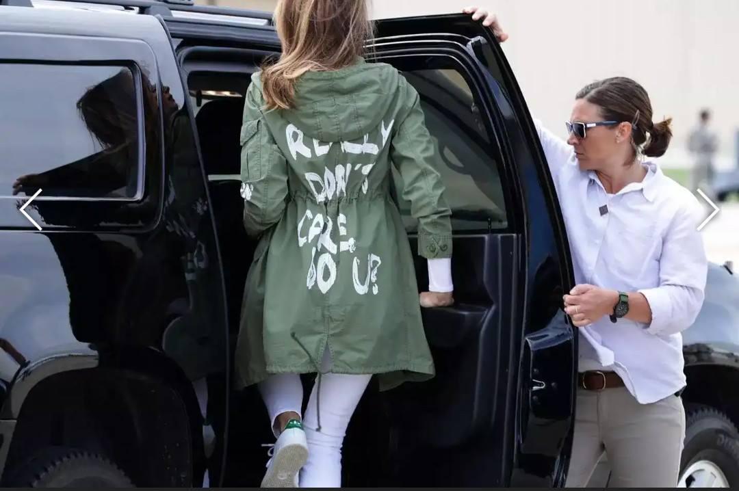 La veste de Mme Trump