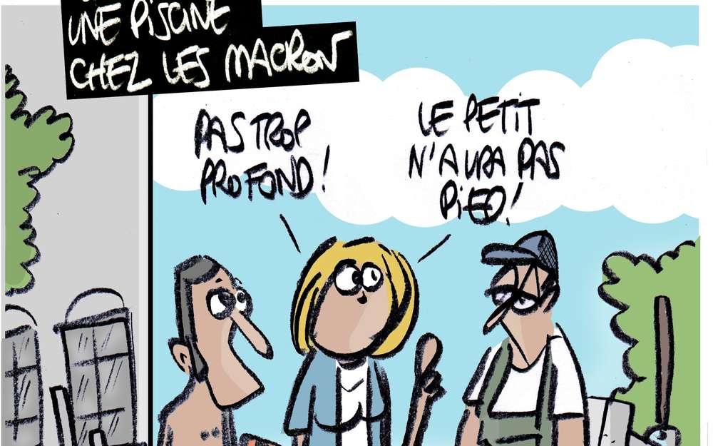 Une piscine pour les Macron de Brégançon