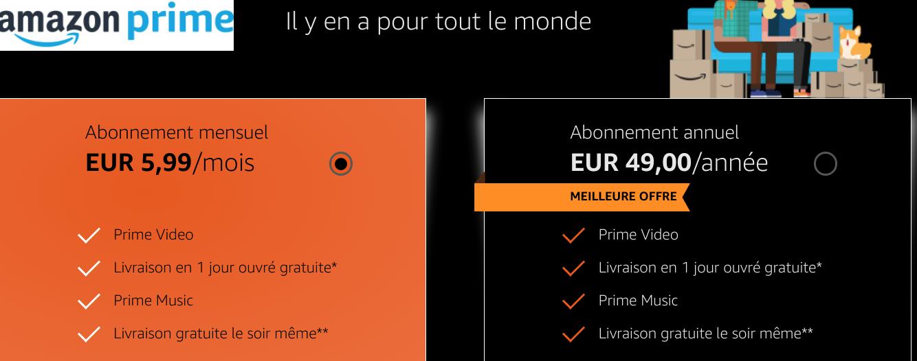 Prime chez Amazon France