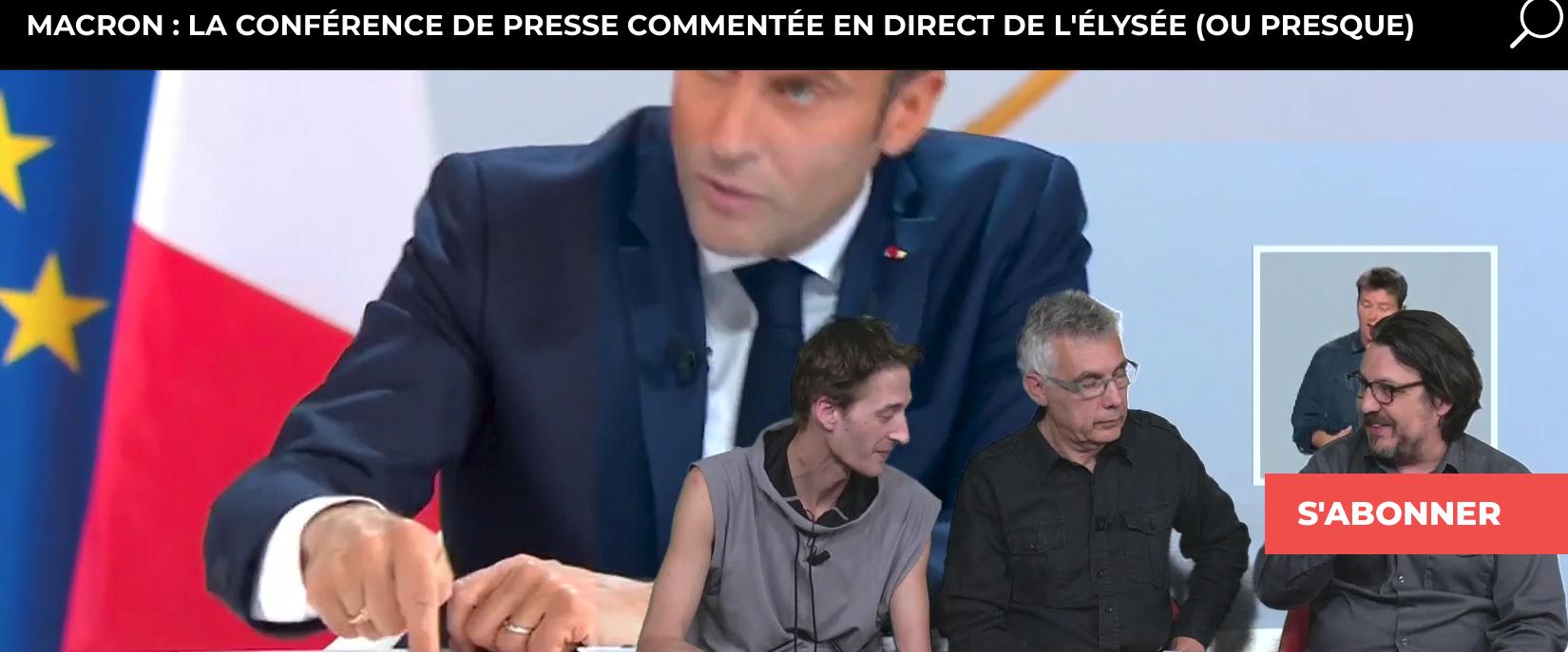 La conférence de presse de Macron comme peu de personnes l'ont vue !