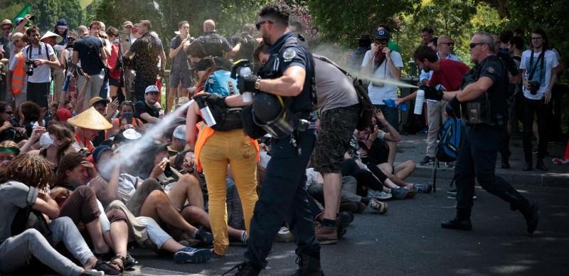Je rappelle que de nos jours les manifestants n'ont même plus le droit de protéger leurs yeux !