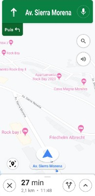 L'cône AR (en bas à gauche de l'écran Maps)