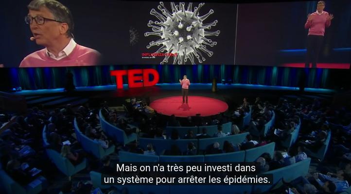 Coronavirus : Bill Gates avait déjà tout prévu...en 2015 !